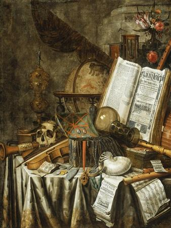 Vanitas Still Life with Musical Instruments, Books, and Other Things, 1663