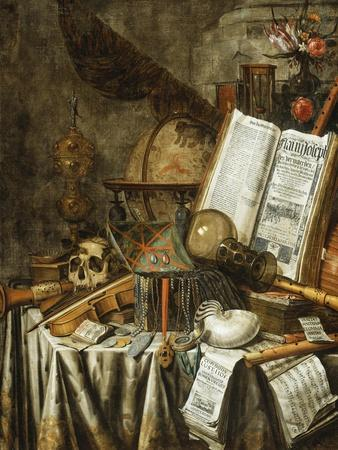 Vanitas Still Life with Musical Instruments, c.1663