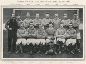 Everton Everton Football Club 1st Team 1905-1906 Season