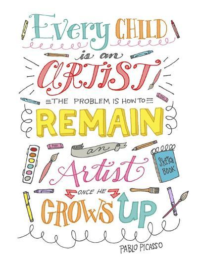 Every Child Is an Artist-Elizabeth Caldwell-Giclee Print