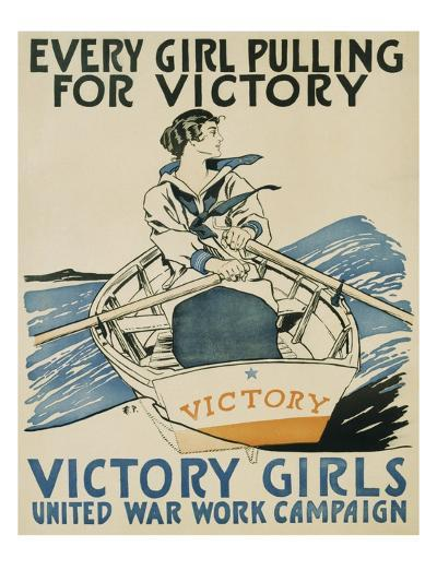 Every Girl Pulling for Victory-Edward Penfield-Giclee Print