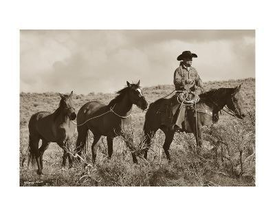 Every Journey For A Cowboy Starts With Four Steps-Barry Hart-Art Print