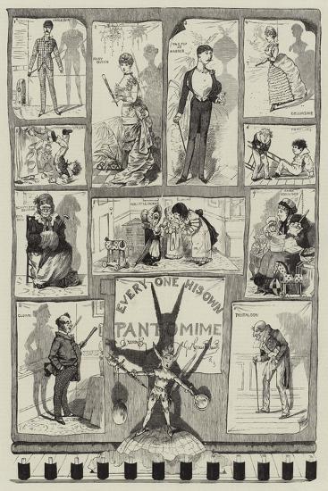 Every One His Own Pantomime-George Cruikshank-Giclee Print