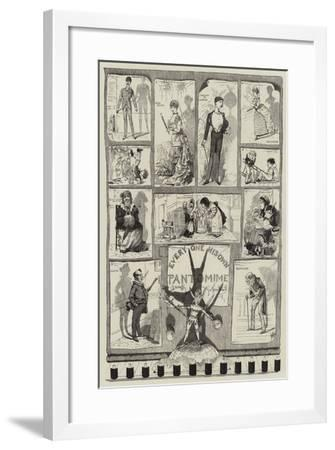Every One His Own Pantomime-George Cruikshank-Framed Giclee Print