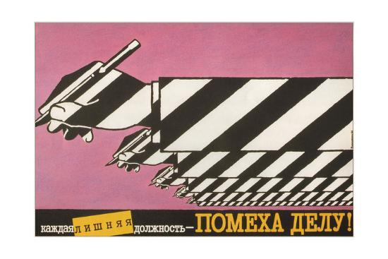 Every Superfluous Official Holds Up Work, 1988-Igor Pilishenko-Giclee Print