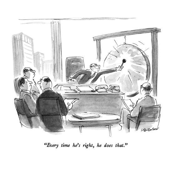 """""""Every time he's right, he does that."""" - New Yorker Cartoon-James Stevenson-Premium Giclee Print"""
