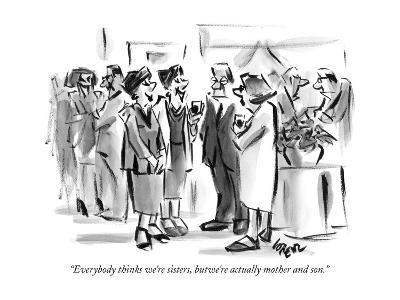 """Everybody thinks we're sisters, but we're actually mother and son."" - New Yorker Cartoon-Lee Lorenz-Premium Giclee Print"