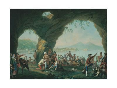 Everyday Life in a Cave in Posillipo, Near Naples Italy-Pietro Fabris-Giclee Print