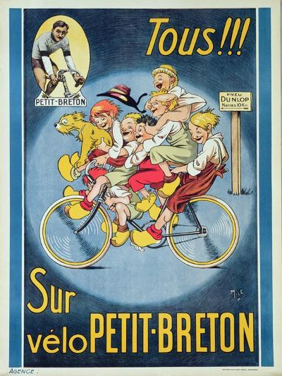 Everyone on the Petit-Breton Bike', Advertisement for a Bicycle-Michel Liebeaux-Giclee Print
