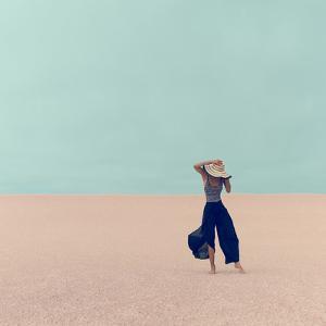 Fashion Model in the Desert on Vacation by Evgeniya Porechenskaya