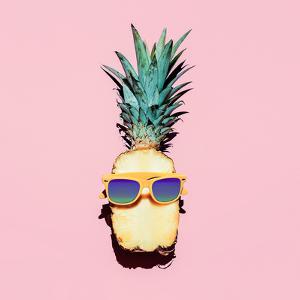 Hipster Pineapple Fashion Accessories and Fruits. Vanilla Style. by Evgeniya Porechenskaya