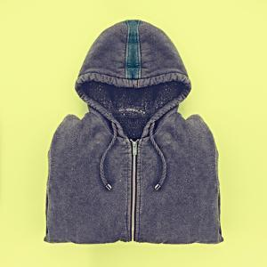 Neatly Folded Men's Hoodies by Evgeniya Porechenskaya