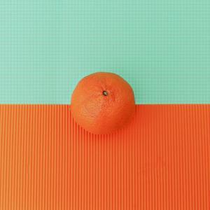 Orange on Bright Background. Minimalism Fashion by Evgeniya Porechenskaya