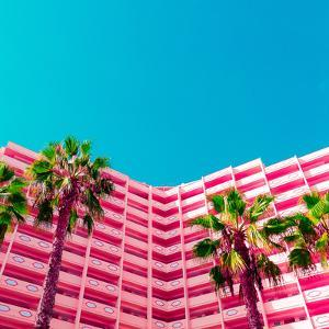 Palms and Hotel by Evgeniya Porechenskaya
