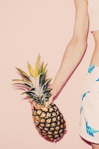 Tropical Summer. Fashion Girl with Pineapple. Vanilla Style Colors by Evgeniya Porechenskaya