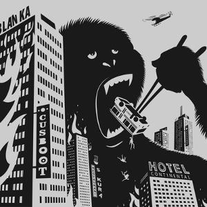 Big Gorilla Destroys City by Evgeny Bakal