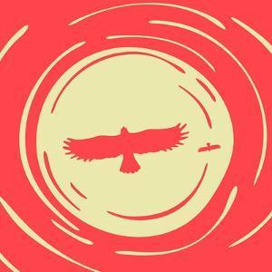Predatory Bird on a of the Sun by Evgeny Bakal