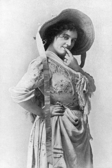 Evie Greene (1876-191), English Actess, 1902-1903-Reinhold Thiele-Giclee Print