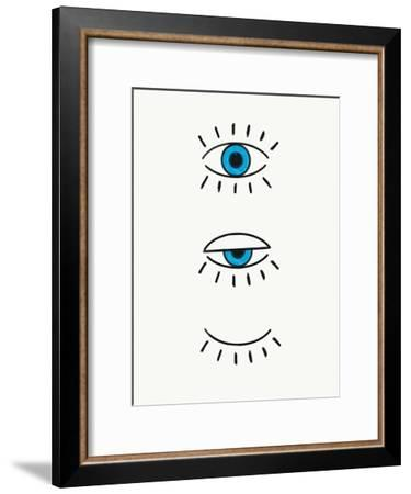 Evil Eye-Emanuela Carratoni-Framed Art Print