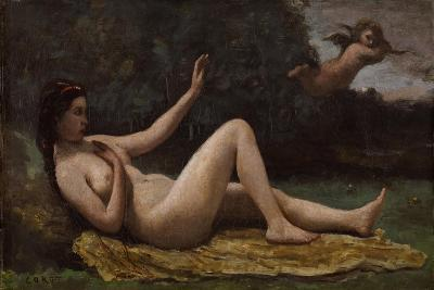 Evocation of Love, 1850-55-Jean-Baptiste-Camille Corot-Giclee Print