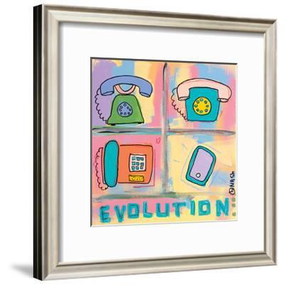 Evolution - Phone-Brian Nash-Framed Art Print