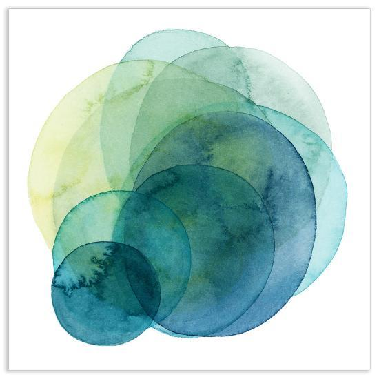 Evolving Planets IV - Free Floating Tempered Glass Wall Art--Alternative Wall Decor