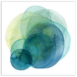 Evolving Planets IV - Free Floating Tempered Glass Wall Art