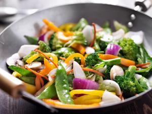 Vegetarian Wok Stir Fry by evren_photos