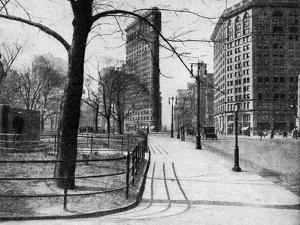 Flatiron Building and Madison Square, New York City, USA, C1930S by Ewing Galloway