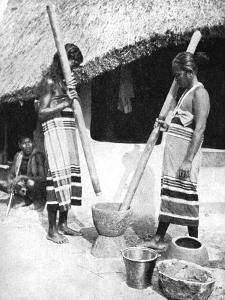 Newar Women Pounding Grain, Nepal, 1936 by Ewing Galloway