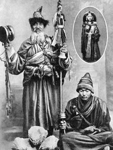 Tibetan Priests, 1936 by Ewing Galloway