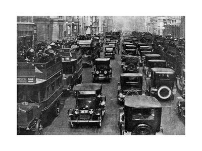 Traffic on 5th Avenue as Seen from a Control Tower, New York City, USA, C1930s