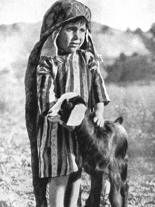 Tunisian Boy in the Sahara Desert, 1936 by Ewing Galloway
