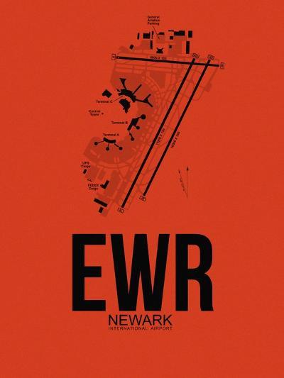 EWR Newark Airport Orange-NaxArt-Art Print