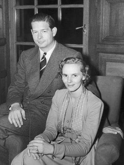 Ex-King Michael of Rumania with His Wife, Princess Anna Boubon Parma--Photographic Print
