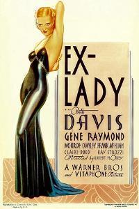 Ex-Lady, Bette Davis on midget window card, 1933