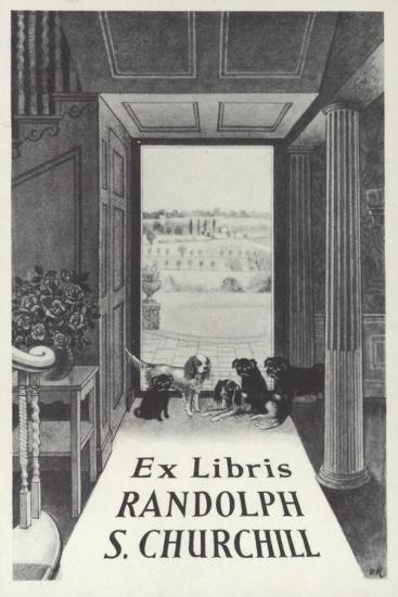 Ex Libris Randolph S Churchill--Giclee Print