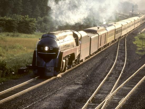 Ex-Norfolk and Western 4-8-4 Steam Locomotive No.611 on a Fan Trip-Kent Kobersteen-Photographic Print