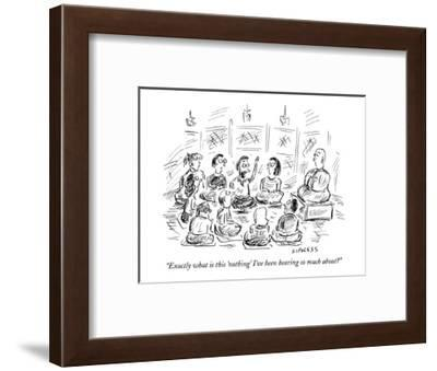 """""""Exactly what is this 'nothing' I've been hearing so much about?"""" - New Yorker Cartoon-David Sipress-Framed Premium Giclee Print"""