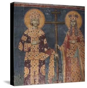 Exaltation of the Cross. Saints Constantine the Great and Helena, 1321-1322