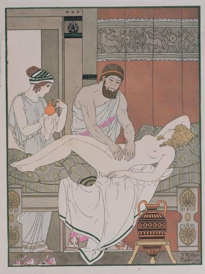 Examination of a Patient, Illustration from 'The Complete Works of Hippocrates', 1932-Joseph Kuhn-Regnier-Giclee Print