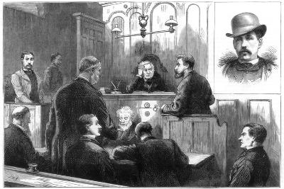 Examination of John Daly, Alias Denman, at the Birkenhead Police Court, 1884--Giclee Print