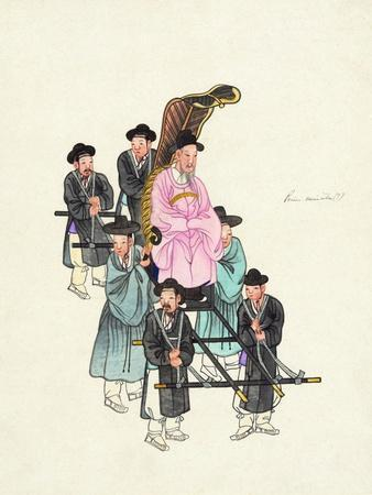 Example of a Roofless Palanquin, Published C.1890--Giclee Print