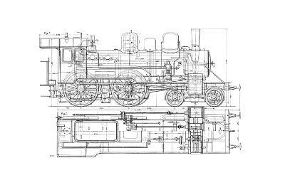 Example of Mechanical Drawing, 1901--Giclee Print
