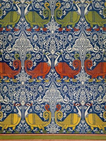 Example of Printed Egyptian Fabric, 19th Century (Chromolitho)-Emile Prisse d'Avennes-Premium Giclee Print