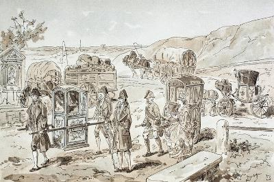 Examples of 18th Century Means of Transport, 1886-Armand Jean Heins-Giclee Print
