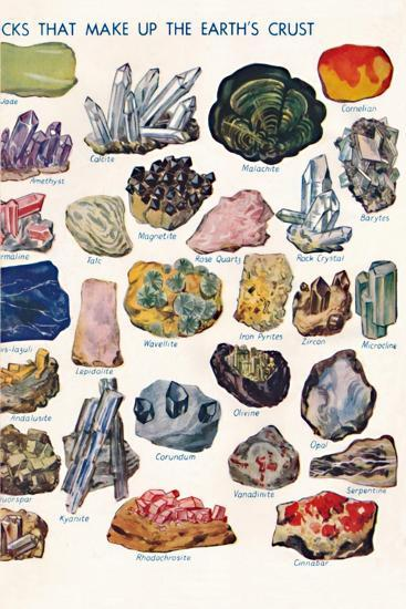 'Examples of the Different Rocks That Make Up The Earth's Crust', 1935-Unknown-Giclee Print
