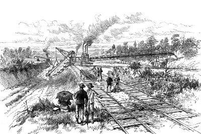 Excavating the Panama Canal, 1888--Giclee Print