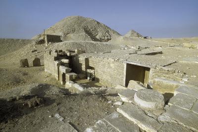 Excavation Area Near Pyramid of Teti, Saqqara, Late Period, 30th Dynasty--Giclee Print
