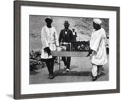 Excavation of the Tomb of Tutankhamun--Framed Photographic Print